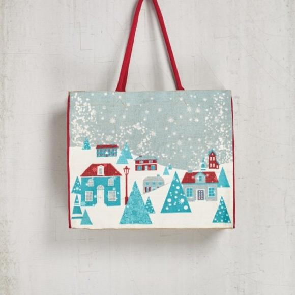 Mona B Handbags - NEW WITH TAGS big MONA B Wonderland burlap tote